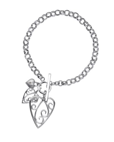 Lily & Lotty Aimee bracelet new - Pulsera de plata de ley con diamante (.01)