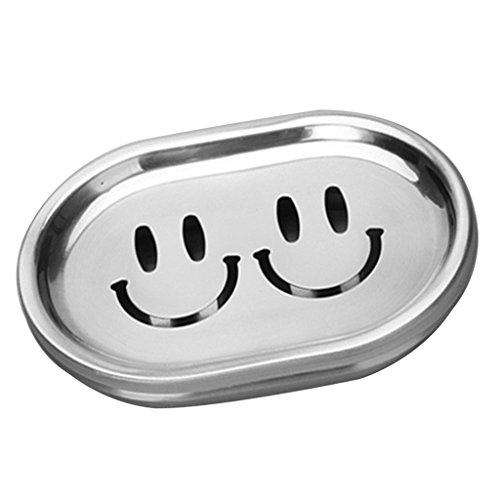 MagiDeal Seifenschale aus Edelstahl - Metall Seifen Halter - Wasser Entwässerung - Bad Waschbecken Deck - Seifenhalterung - Seifenkiste - Seifen Box - Badezimmer