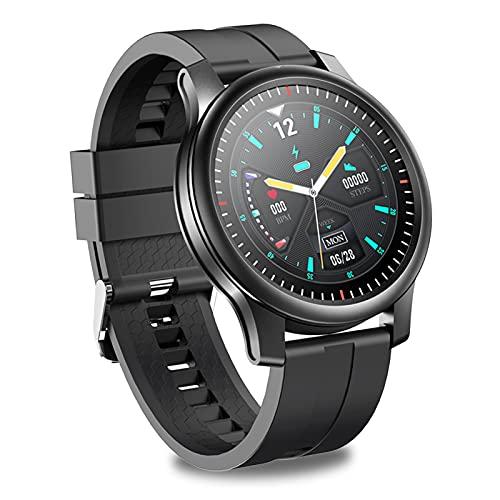 Chronus Smartwatch Hombre 360 Resolución HD, Reloj Inteligente con Pulsómetro, Monitor de Sueño, Notificaciones Inteligentes, Smart Watch IP67 Impermeable Compatible con Android iOS (Negro)