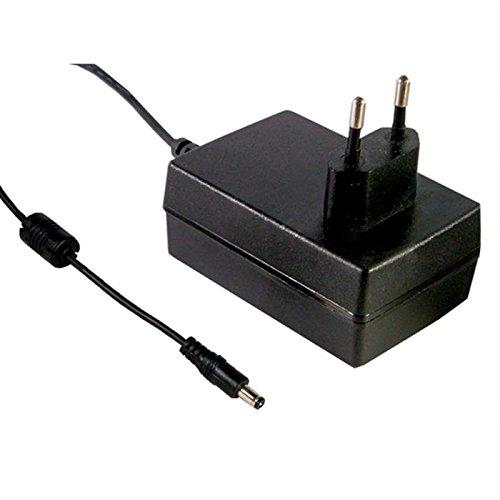 Mean Well GS18E12-P1J Adaptador e inversor de Corriente 18 W Negro - Fuente de alimentación (90-264 V, 47/63 Hz, 0.5 A, 18 W, 12 V, 1,5 A)