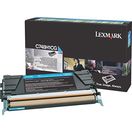 Lexmark C748H1CG Cyan High Yield Return Program Cartridge Toner