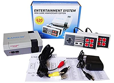 Classic Retro Family Game Console - with 620 Games ?Consoles Video Games, Built in 600 Video Games Consoles, (AV Out Cable), Children Gift?Bring You Happy Childhood Memories from Happy-paradise