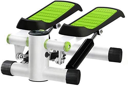 DFBGL Máquina de escalonamiento Fitness Máquina de Subir escaleras Mudo hidráulico Máquina de Ejercicio Paso a Paso Dispositivo de Pantalla de Cristal líquido en Miniatura para el hogar