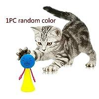 1/5ピースソフト猫のおもちゃボール子猫のおもちゃキャンディー色の盛り合わせボールインタラクティブ猫のおもちゃ再生スクラッチキャッチペット子猫-1ピース