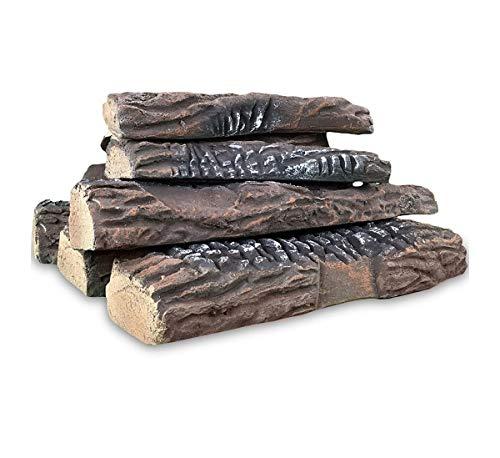 Regal Flame 10 Piece Ceramic Fireplace Wood Log Set