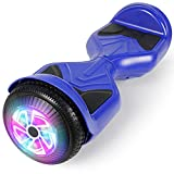 CHIC Hoverboard, 6.5' Self Balancing Scooter Hover Board with Bluetooth UL2272 Certified Wheels LED Lights for Kids Adults (A18 Blue)