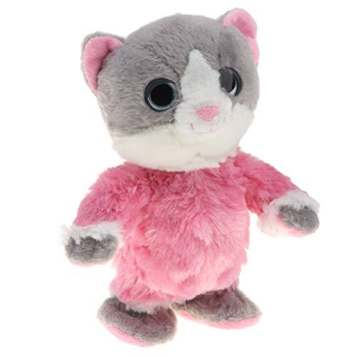 Elektronische Sprechende und Laufende Katze Intelligentes Spielzeug, Geschenk für Kinder - Rosa