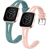 Dirrelo 2 Pack Correa Compatible with Fitbit Versa/Fitbit Versa 2/Fitbit Versa Lite/Fitbit Versa SE...
