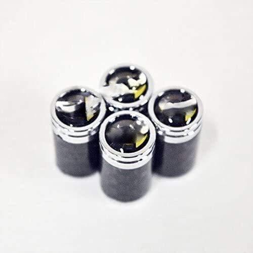 4pcs Coche de neumáticos de la válvula de neumáticos Tapas de aire, para Mercedes Benz Logo Smart Emblem Auto Caps Tapa de polvo Universal Válvulas Tapa de tallo Decoración Modelado Auto Accesorios 21