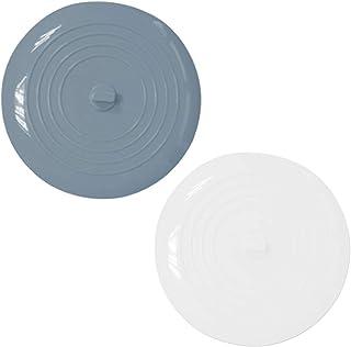 Cosswe Lot de 2 bouchons d'évier en silicone - Bouchon de vidange en silicone - Pour cuisine, lavabo, salle de bain, buand...