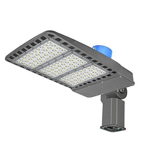 300W LED Parking Lot Lighting,with Dusk-to-Dawn Photocell Sensor,IP65 Waterproof,39,000 Lumens,100-277V LED Pole Light ETL Listed,1000W HPS Equivalent (Slip Fit 300W)