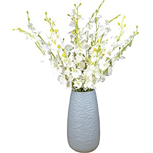 "WLIXP Artificial Flower Arrangements Silk Orchid 11 Pcs(20"") Fake Orchids for Wedding Home Office Indoor Outdoor, Not Include Vase"