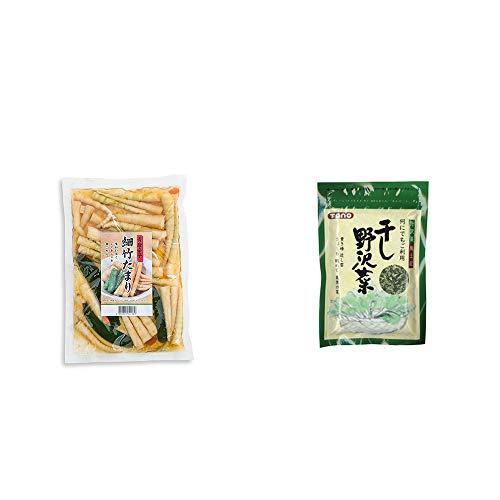 [2点セット] 青唐辛子 細竹たまり(330g)・干し野沢菜(100g)