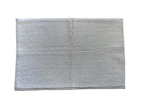 SGhome hygiënemat voor badkamer wit 40 x 60 cm wasbaar wasmachines en antislip