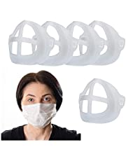 Senior ICare Face Mask Inner Support Frame - 3D Bracket for Comfortable Mask Wearing and Breathing, Mouth Mask Support, Lipstick Protector, 5pcs. Translucent