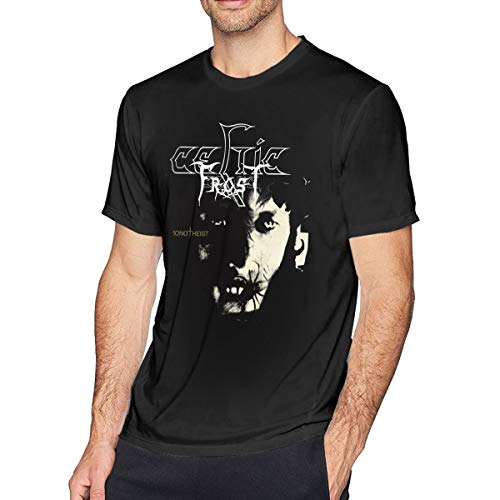 UEESTAR Men's Fashion Classic Celtic Frost-Monotheist T Shirts Size UP to 4XL Black