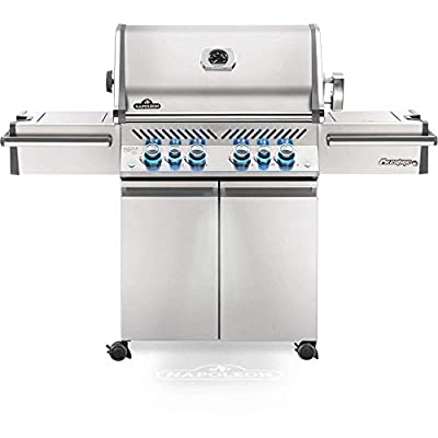 Napoleon PRO500RSIBNSS-3 Prestige PRO 500 with Rear & Side Infrared Burner Natural Gas Grill, sq.in Side and Rear, Stainless Steel