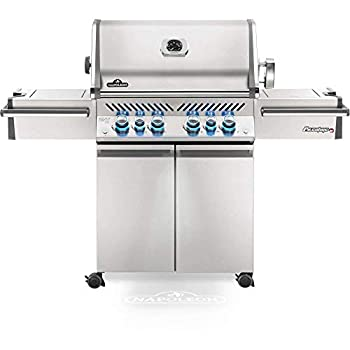 Napoleon PRO500RSIBPSS-3 Prestige PRO 500 RSIB Propane Gas Grill 900 sq.in + Infrared Side and Rear Burners Stainless Steel