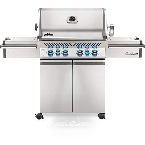 Napoleon PRO500RSIBPSS-3 Prestige PRO 500 RSIB Propane Gas Grill, 900 sq.in. + Infrared Side and Rear Burners, Stainless Steel