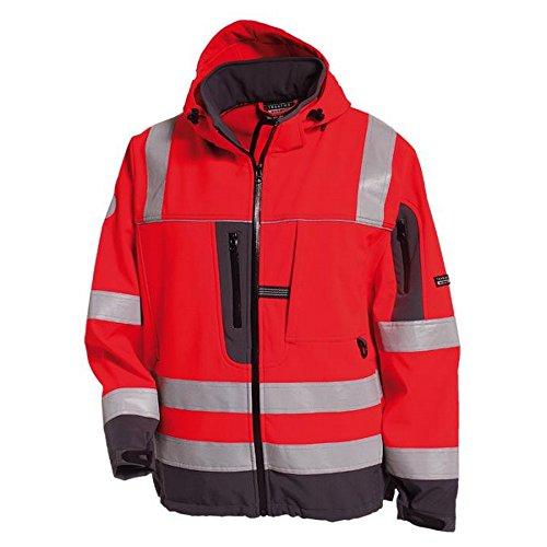 Tranemo 4032-48-97-XS Softshell Jacke First Grade HI-VIS HV 1G Größe XS in rot/grau