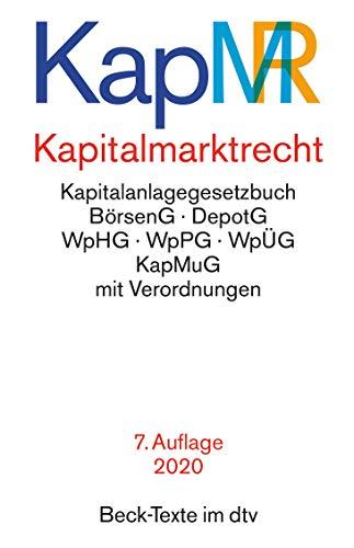 Kapitalmarktrecht (Beck-Texte im dtv)