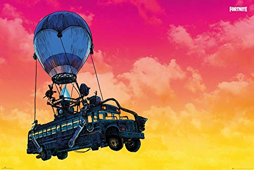 GB eye FP4919 Poster Fortnite, Battle Bus, 91,5 x 61 cm
