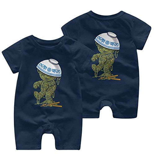 Ramen Mummy Leuke Baby Meisje Korte mouw Bodysuit Coverall 0-24 Maanden