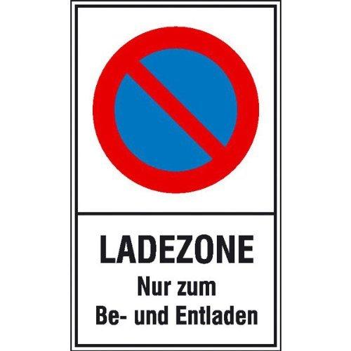 INDIGOS UG - PVC-Schild - Eingeschränktes Haltverbot Text: Ladezone Nur zum Be- und Entladen 25x40 cm