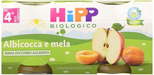 Hipp Omogeneizzato Mela e Albicocca - 24 vasetti da 80 g