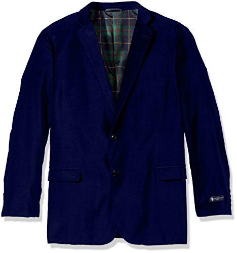 U.S. Polo Assn. Men's Big and Tall Velvet Sport Coat, Royal Blue, 60 Regular