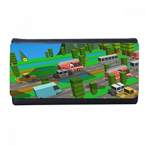 DIYthinker Cartoon ChickenGo Pixel Puzzle Game Wallet Rechteck-Karte Multi-Funktions-Purse Geschenke