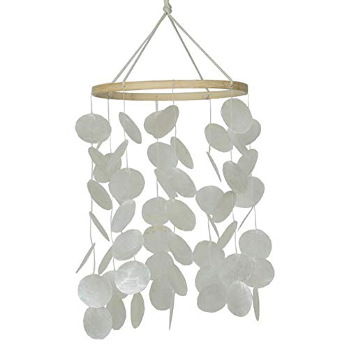 Uziqueif Muschel Windspiele Traumfänger Aufhängen natürliche Muscheln Windspiel Schlafzimmer Windspiel für Kinderzimmer zum Balkon Zimmerdekoration,1