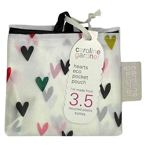 Caroline Gardner Einkaufstasche mit Herzen, recycelt, Einkaufstasche