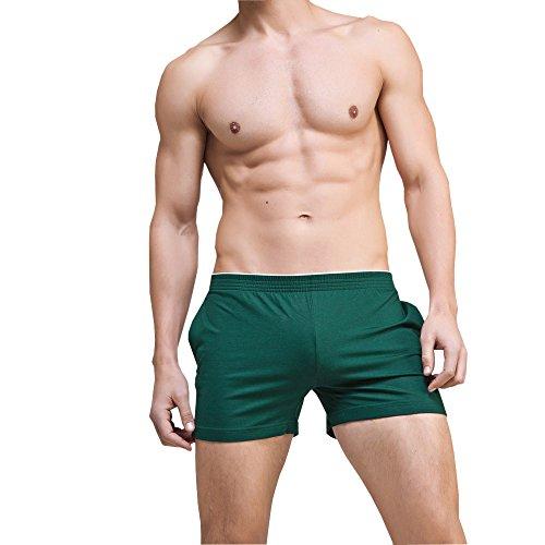 Aiserkly Männer Sommer Shorts Boxer Sport Shorts Strand Schwimmen Hosen Casual Nachtwäsche Grün L