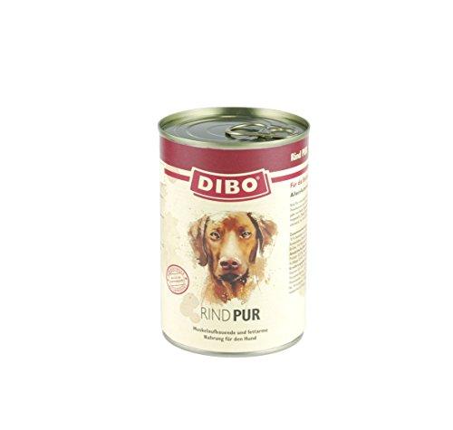 DIBO – PUR RIND, 400g-Dose, reine Fleischdosen aus frischem und natürlichem Fleisch! DIBO-Qualität