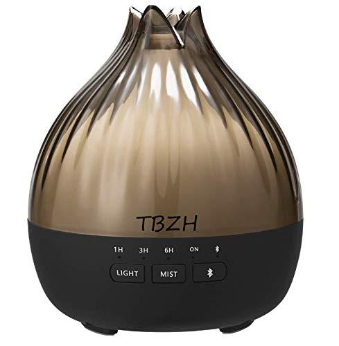 2021 Musik Aroma Duftöl Diffuser Raumdiffuser Farbwechsel mit Bluetooth Lautsprecher Luftbefeuchter Raumbefeuchter Ultraschall Ätherische Öle Deko Wohnzimmer Schlafzimmer Zubehör