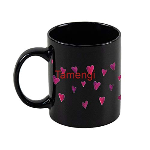 Funny White Coffee Mug, Watercolor heart melody Ceramic Novelty Cup Ideal Gift 15oz