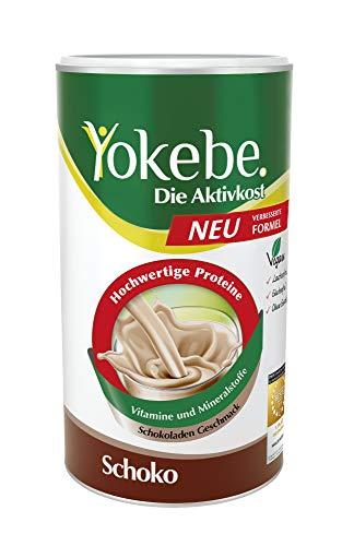 Yokebe. Die Aktivkost - Schoko - Diätshake zur Gewichtsabnahme - glutenfrei, laktosefrei und vegan- Diät-Drink mit Proteinen - 500 g = 10 Portionen