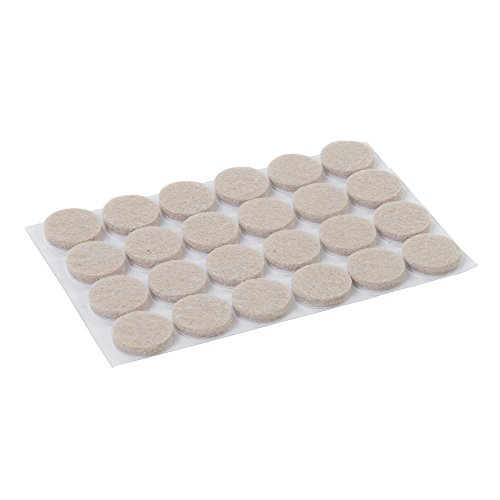FIXMAN 900862 - Almohadillas de fieltro autoadhesivas, 24 pzas (20 mm, redondo)
