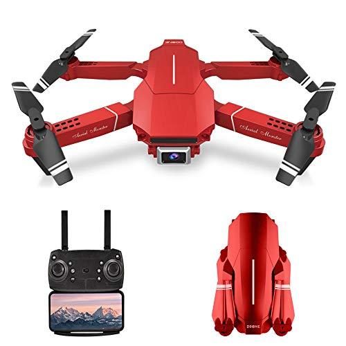 Goolsky Drone E98 RC con videocamera 4K Drone RC Quadricottero WiFi FPV Drone modalità Senza Testa Altitudine Hold Gesto Foto Traccia Volo 3D Filp Pieghevole Drone 1 Batteria