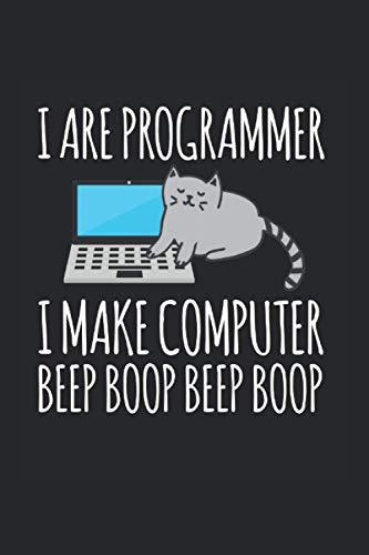 I are Programmer: 6x9 (ca. DIN A5 / A 5) Nerd Notizbuch Code Tagebuch CPU Bullet Journal Geek Notizblock USB Notizheft Computer Logbuch Informatik Softcover