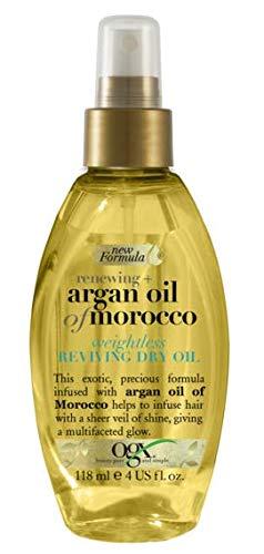 OGX Aceite de Argán de Marruecos, aceite seco ligero revitalizador, aceite, pelo...