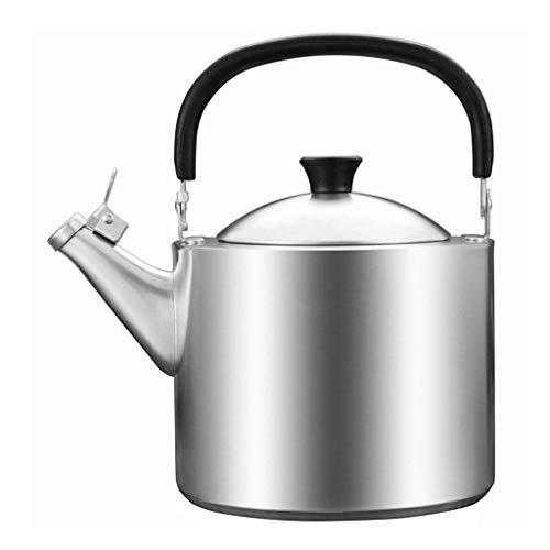 TNSYGSB Sólo la Tetera de Acero Inoxidable de Grado culinario con asa ergonómica táctil Fresca y sput de vierte Recto - Fabricante de té, colador del infusor Incluido Bol Desayuno