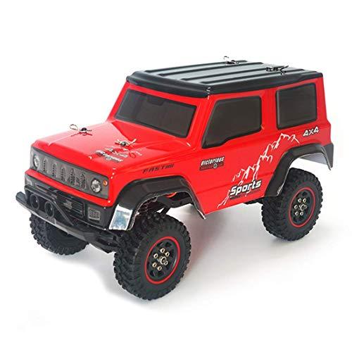 ZHANGYY 1/18 2.4G RC RC Car Crawler Modelo de vehículo de Escalada Camiones de Alta Velocidad Camiones Todoterreno Juguetes Rojo