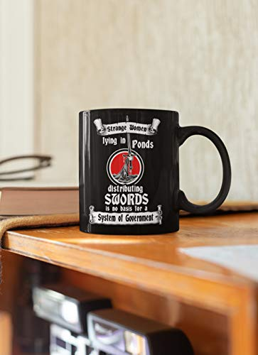 Keramik Kaffee Tee Tasse Heiliger Gral Monty Python Tasse Strange Women Lying in Ponds Distributing Swords,