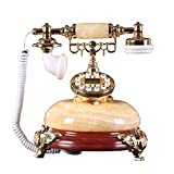 XJJZS Teléfono Decorativo Antiguo, teléfono Fijo Teléfono de Moda Hogar Creativo...