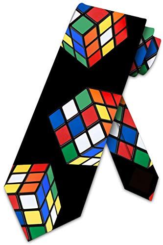 LREFON Puzzle Cube Ties - Corbata de rompecabezas 3D para hombre