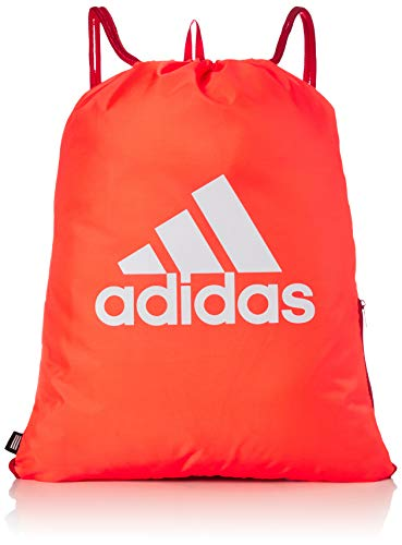 adidas Gymsack SP Bolsa De Deporte, Unisex Adulto, Rojsol/Escarl/Blanco, Talla Única
