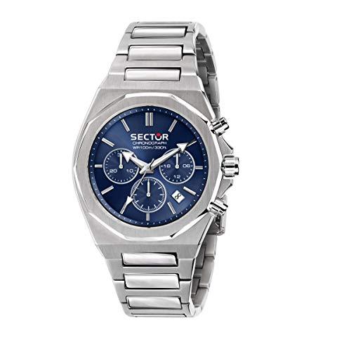 Sector No Limits Herren Analog Quartz Uhr mit Stainless Steel Armband R3273628003