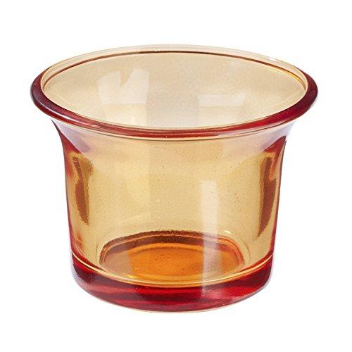 Teelichtglas Orange, Kerzenglas, 10 Stk.